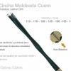 CINCHA MOLDEADA CUERO CON ELÁSTICO