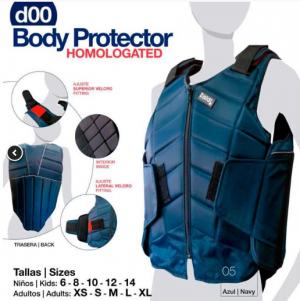 CHALECO PROTECTOR BODY HOMOLOGADO AZUL