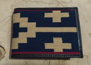 CARTERA GUARDAPAMPA AZUL-BEIGE